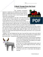 Bacon and Wool Escape From the Farm Third Grade Reading Comprehension Worksheet