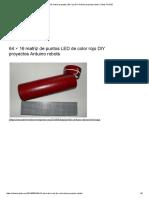 64 × 16 matriz de puntos LED rojo DIY Arduino proyecta robots _ robots ChiOSZ