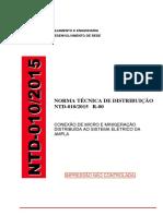 Ampla Norma Tecnica Geracao Distribuida NTD-010-2015