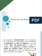 Principio de Definitividad- AMPARO