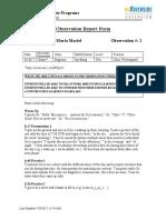 maria maciel foundation observation report 2