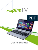 Acer Aspire v5-122p User Manual
