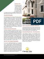 Homestead Declaration