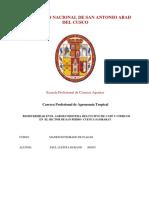 Diagnóstico de Los Agroecosistemas de Los Cultivos Café y Cítricos en La Cuenca Sambaray Bajo