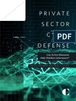 Private Sector Cyber Defense