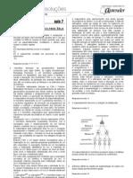 Biologia - Caderno de Resoluções - Apostila Volume 2 - Pré-Universitário - Biologia1 - Aula07