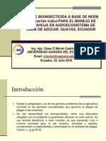 "Conferencia ""USO DE BIOINSECTICIDA A BASE DE NEEM Azadirachta indica"""