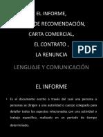 Informe, Cartas de Recomendacion y Comercial, Contrato, Renunia.pdf