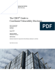 The CERT® Guide to  Coordinated Vulnerability Disclosure