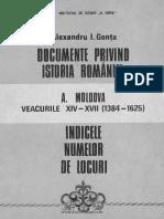 Documente privind istoria României. A. Moldova. Veacurile XIV - XVII (1384-1625) - Indicele numelor de locuri.pdf