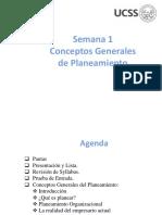 Sesion1 PLANEAMIENTO.emprESARIAL 2017-II Conceptos Generales Planeamiento (1)