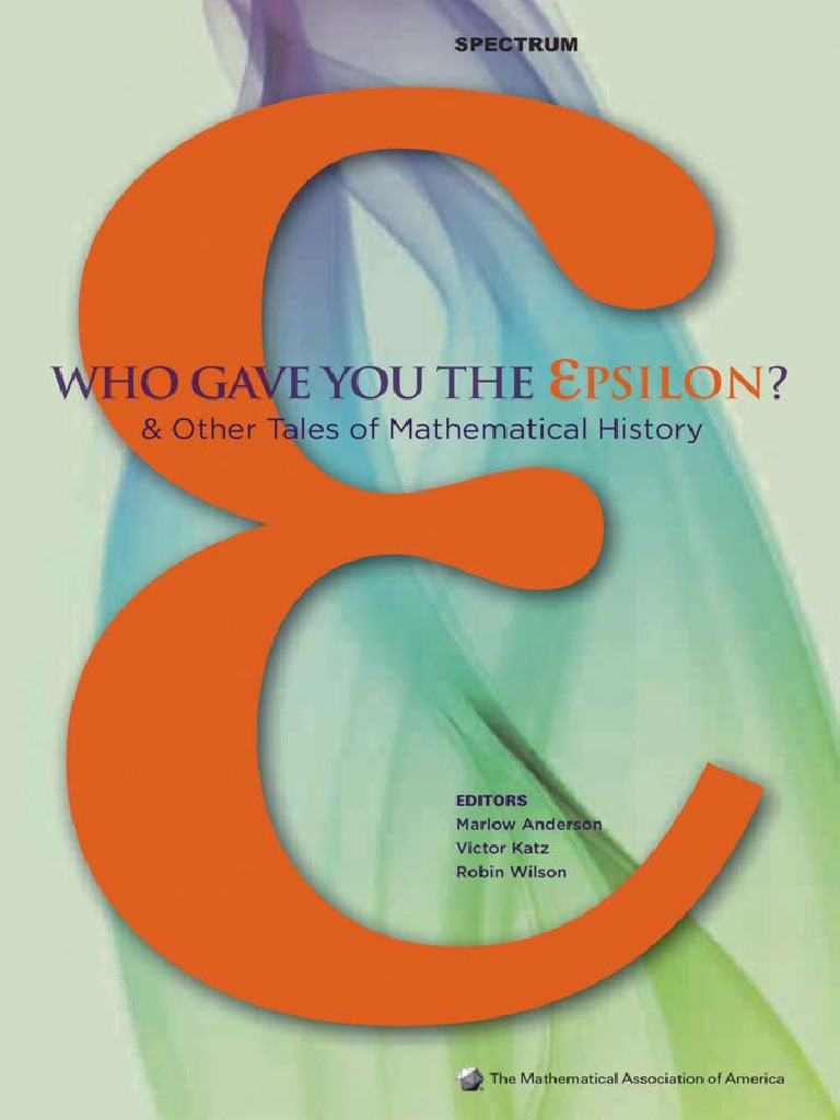 Who Gave You the Epsilon   Series (Mathematics)   Calculus