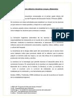 Fundamentación Didáctico Disciplinar Lengua y Matemática