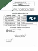 Aprendices Seleccionados III Conv. Programa de Monitorias 2017