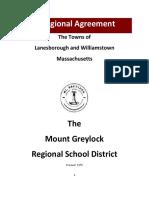 Draft Mount Greylock Regional School District Agreement
