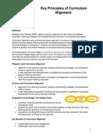 Key Principles of Curriculum Alignment- AUN 2016