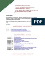 Reglamento de Igv o Isc