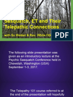 Sasquatch, ET & the Telepathic Connection