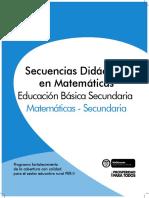 Secuencias Matematicas Secundaria