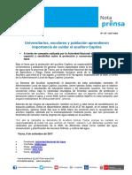 Nota de Prensa Nº 175-2017 - ALA CAPLINA LOCUMBA