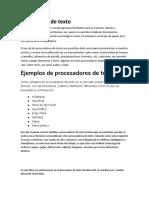 Procesador de Texto Actividada 1 Los Procesadores de Texto Son