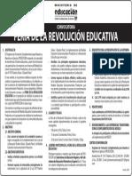 Convocatoria Feria de La Revolucion Educativa