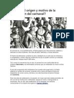 4. Origen Del Carnaval