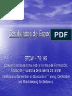 Certificados de Especialidad - STCW 78-95