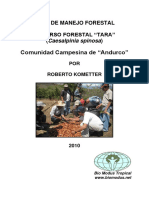 2010-Piura-plan de Manejo Forestal Recurso Forestal Tara Comunidad Campesina de Andurco Por Roberto Kómetter Mogrovejo