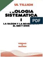Teologia sistematica I - Paul Tillich.pdf
