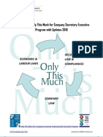 Download Only This Much for Company Secretary (CS) Executive Programme Book Updates & Amendments to Company, Economic, Labour, Securities law 2010