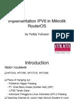 Ipv6 Implantando No Mikrotik