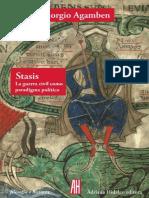Stasis. La Guerra Civil Como Paradigma político - Giorgio Agamben