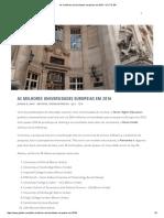 As Melhores Universidades Europeias Em 2016 - G.a.T.E