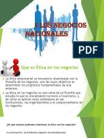 Ética en Los Negocios Nacionales (1)