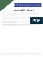 Entraînement Au TCF — Série 3