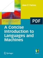 Alan P. Parkes - A Concise Introduction to Languages and Machines