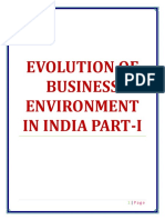 Evolution of Business Evironment in India