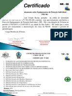 Certificado Do Curso de - NR-06 - Fabio