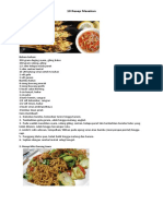 10 Resep Masakan