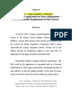 Nasecore vs. Energy Regulatory Commission