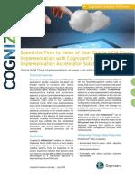 Cognizant HCMaximize Implementation Accelerator Solution