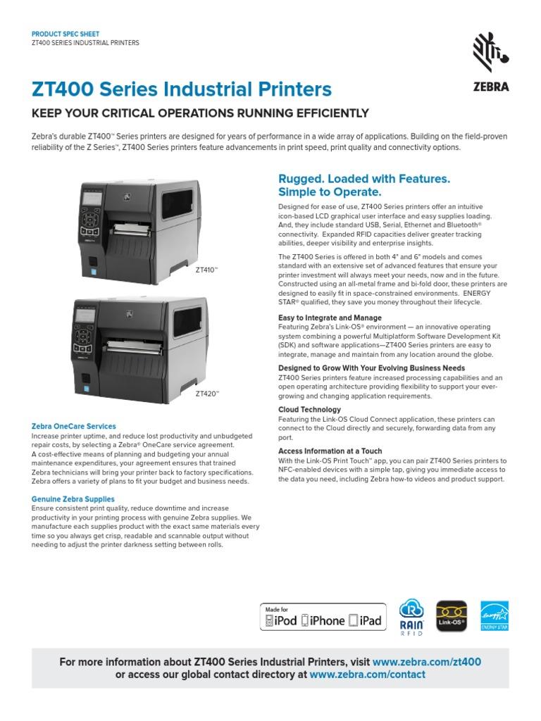 Máy in mã vạch ZEBRA ZT410 series | Printer (Computing) | Cloud