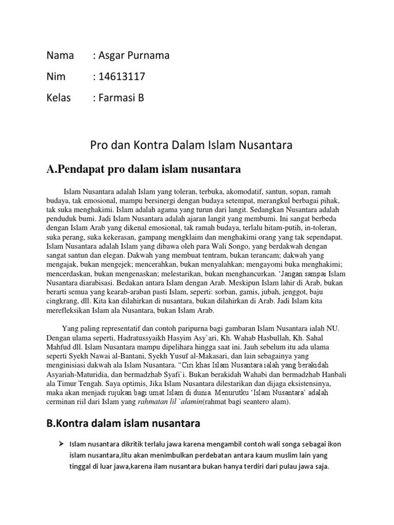 Pro Dan Kontra Islam Nusantara