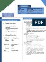 Curriculum Vittae 1