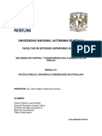 Política Pública Desarrollo Inmobiliario en Iztapalapa