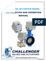 Electric Quarter Turn Actuator Model HQ006 Manual