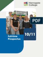 Harrogate College Full-time prospectus
