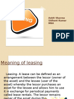 Meaning of Leasing