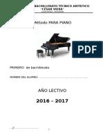 Método de Piano Primero de Bachillerato